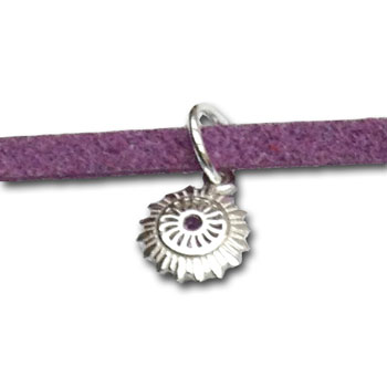 Crown Chakra Bracelet or Anklet Silver Purple Tie-to-fit