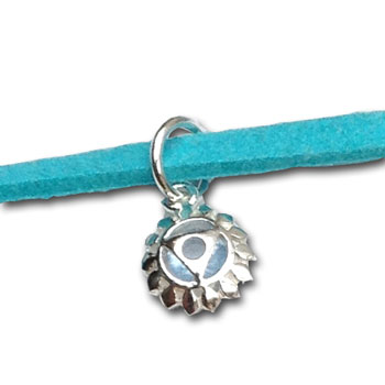 Throat Chakra Bracelet or Anklet Turquoise Tie-to-fit