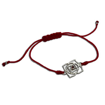 Root Chakra Bracelet Adjustable Red