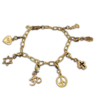 Coexist Charmas Bracelet Recycled Brass Adjustable