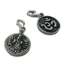Double-sided Om and Ganesh Charm