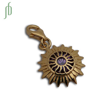 Charmas Crown Chakra Stone Charm GOLD MINI