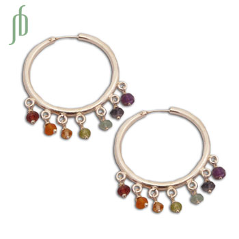 Well-being Seven Chakra Hoops Earrings