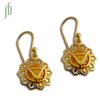 Good Vibes GOLD Solar Plexus Chakra Earrings