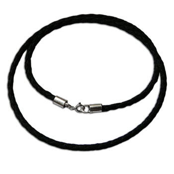 Leather Necklace with Silver Clasp 18