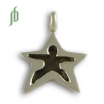 Star Tag: Warrior Pose Pendant