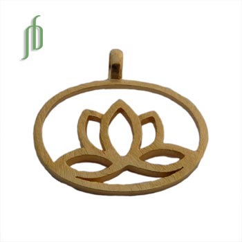 "Lotus Pendant Gold ""Enlightenment"""