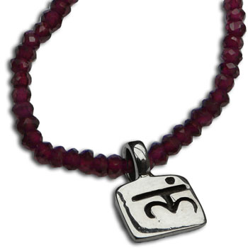 Root Chakra Necklace with Garnet 18