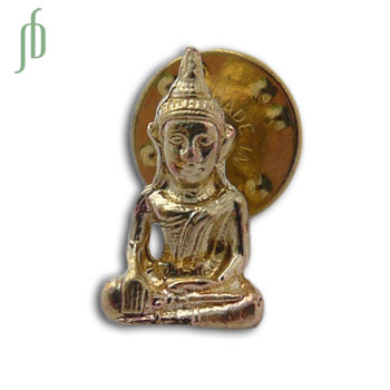 Buddha Scatter Pin Recycled Brass